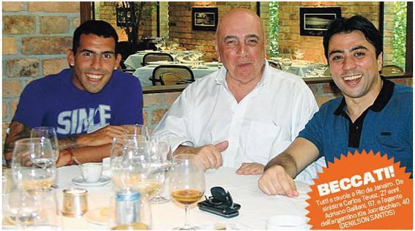 galliani tevez Calciomercato Milan, cè anche Tevez con Galliani a Rio: ecco la foto!