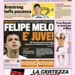Calciomercato Story, Gazzetta 09/07/09: colpaccio Juve, preso Felipe Melo! Onyewu al Milan – Foto