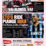 Gazzetta dello Sport: Eto'o ride, piange Ibra