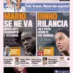 Gazzetta dello Sport: Mario se ne va, Dinho rilancia