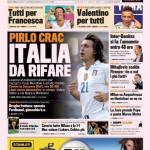 Gazzetta dello Sport: Pirlo crac, Italia da rifare