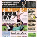 Gazzetta dello Sport: Palermo Si. Rabbia Juve