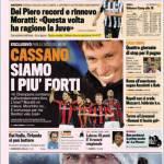 Gazzetta dello Sport: Cassano, siamo i più forti
