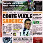 Gazzetta dello Sport, Conte vuole Sanchez