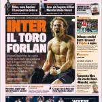 Gazzetta dello Sport: Inter, il toro Forlan