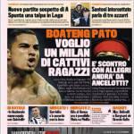 La Gazzetta dello Sport, Boateng: voglio un Milan di cattivi ragazzi