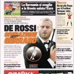 Gazzetta dello Sport: De Rossi 007 Operazione Gerrard
