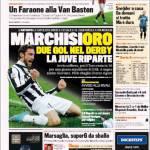 Gazzetta dello Sport: Marchisioro, due gol nel derby