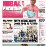 Gazzetta dello Sport: Festa orgoglio Juve, Conte apre al futuro