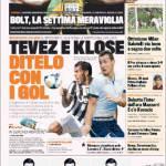 Gazzetta dello Sport: Tevez e Klose, ditelo con i gol
