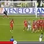 VIDEO – La chirurgica punizione di Pirlo che vale il 2-0 della Juventus!