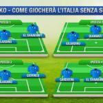 Foto – Italia-Spagna, Balotelli out: ecco 4 possibili varianti per l'attacco azzurro, qual è il migliore?