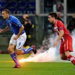 """Italia-Serbia, Chiellini dispiaciuto su Twitter: """"Poteva essere una bella festa"""""""