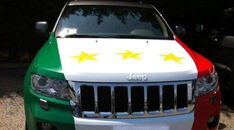 Scudetto Juventus, nuova jeep per De Ceglie: tricolore e terza stella