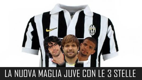 juve tre stelle Nuova maglia Juventus con le tre stelle: unaltra fantasiosa proposta dal web   Foto
