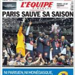 """L'Equipe: """"Il PSG salva la stagione"""""""