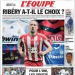 L'Equipe: Ribery può scegliere?