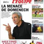 L'Equipe: la minaccia di Domenech