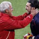 """Italia, Buffon difende Lippi: """"I vincenti come lui non rimangono mai soli"""""""