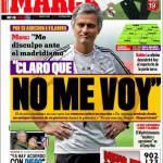 Marca, Mourinho: non me ne vado