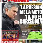 """Marca: """"La pressione la metto io, non il Barcellona"""""""