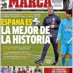 """Marca: """"La Spagna è la migliore della storia"""""""