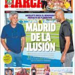Marca: Ancelotti inizia il rinnovato progetto di Perez, il Real Madrid dell'illusione