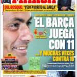 """Marca: """"Il Barça gioca in 11 e spesso contro 10"""""""