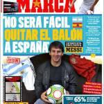 """Marca: Messi """"Non sarà facile togliere il pallone alla Spagna"""""""