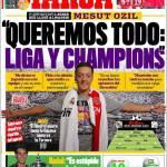 """Marca: Ozil """"Vogliamo tutto, Champions e Liga"""""""