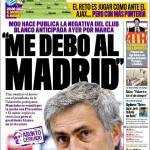 "Marca: Mourinho ""Decide il Real Madrid"""