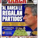 """Marca: Mourinho """"Al Barcellona regalano le partite"""""""