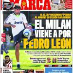 Marca: Il Milan viene per Pedro Leon