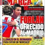 Marca: Forlan offerto al Real Madrid