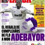 Marca: Il regalo di compleanno di Perez a Mourinho, Adebayor