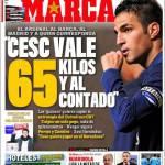 "Marca: ""Cesc vale 67 milioni di euro in contanti"""