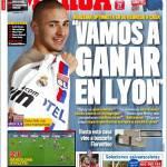 """Marca: Benzema """"Andiamo a vincere contro il Lione"""""""