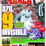 Marca: Ozil un nove invisibile