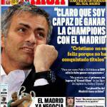 """Marca: Mourinho """"Chiaro che sono capace di vincere la Champions con il Real Madrid"""""""
