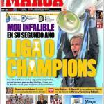 Marca: Mourinho infallibile al secondo anno: Champions o Liga