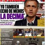 """Marca: Mourinho """"Voglio la decima"""""""