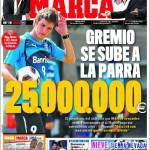 Marca: Il Gremio chiede 25 milioni di euro per Mario Fernandes