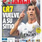 Marca: Cristiano Ronaldo torna alla sua posizione