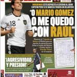 """Marca: Mourinho """"O Mario Gomez o Raul"""""""