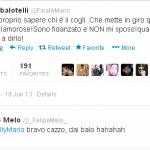 Foto – Balotelli su Twitter inveisce: io pronto al matrimonio? Bugie! Ed intanto un ex Juve gli risponde…