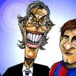 """Liga, """"filo diretto"""": da Barcellona vignette di scherno per Moratti – Foto"""