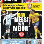 Mundo Deportivo, Ibrahimovic: Messi è il migliore