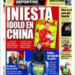 Mundo Deportivo, Iniesta idolo in Cina