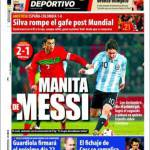 Mundo Deportivo: manita di Messi
