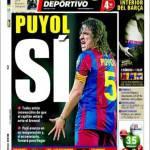 Mundo Deportivo: Puyol, sì